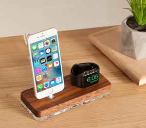 Docking station for Apple, iPhone Charging  Apple Watch Charging stand, Docking Station| ATIK II Merbau