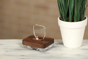 Docking Station for iPhone/iPad, Wooden Charging Stand | ATIK I Walnut