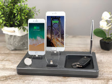 Load image into Gallery viewer, Organizer, Dock for Apple, Charging Stand, Multi-Device Docking Station  | ATIK IV plus Bamboo
