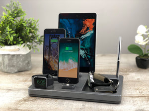 Organizer, Dock for Apple, Charging Stand, Multi-Device Docking Station  | ATIK IV plus Bamboo