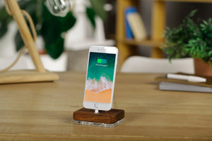 Docking Station for iPhone iPad, Wooden docking Charging Stand | ATIK I Merbau