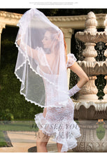 Load image into Gallery viewer, White lace mesh bride costume - Evalamor