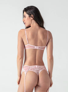 Pink Lace 3-piece Bra Set