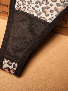 Leopard-print Lace G-strings