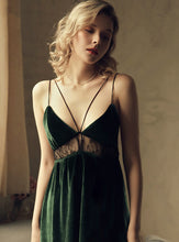 Load image into Gallery viewer, Green Velvet Babydoll