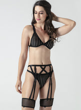Load image into Gallery viewer, Strappy Stripe Lingerie Set - Evalamor
