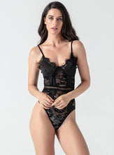 Load image into Gallery viewer, Black Lace Forging Noodles Playsuit - Evalamor