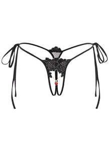 Black Tied Pendant Knickers