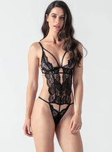 Load image into Gallery viewer, Lace Deep V Bodysuit - Evalamor