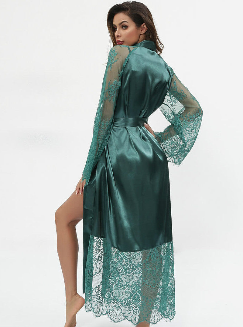 Sliky Satin Lace Nightgown