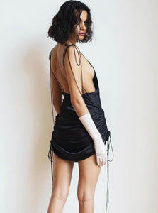 Off Shoulder Backless Dress - Evalamor