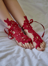 Load image into Gallery viewer, Lace Applique Barefoot Sandals