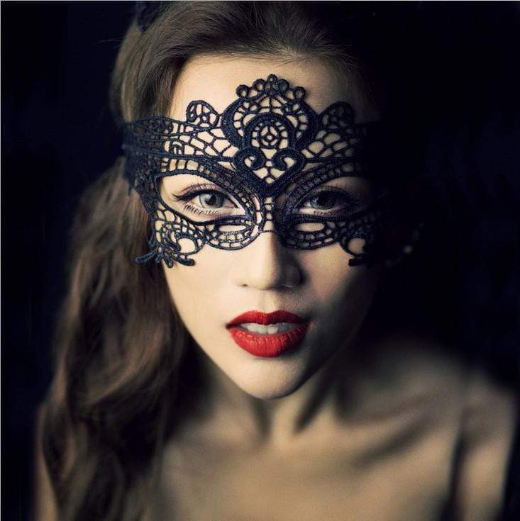 Hollow Lace Eye Mask - Evalamor