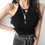Colar Feminino Gold Multilayer Necklaces & Pendants Vintage