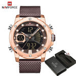 NAVIFORCE Quartz Aço Luxury Militar