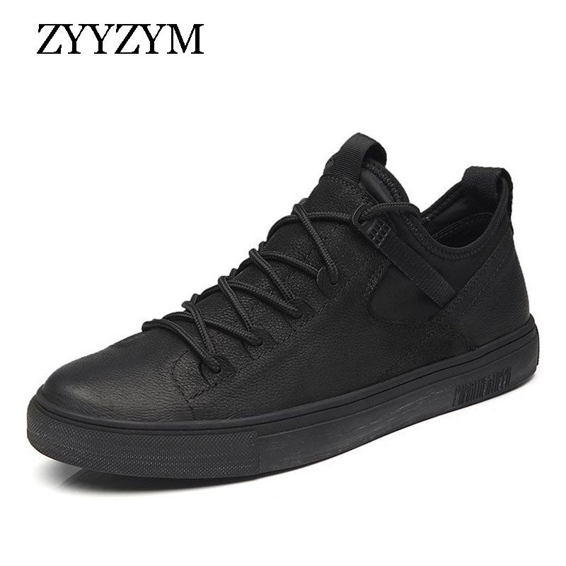 Sapato Unissex ZYYZYM England Style Men Casual  Leather Breathable