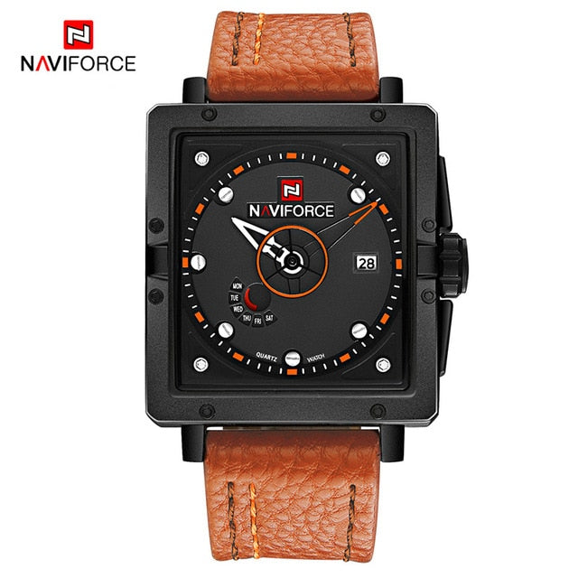 Relógio NAVIFORCE Waterproof Brown Masculino