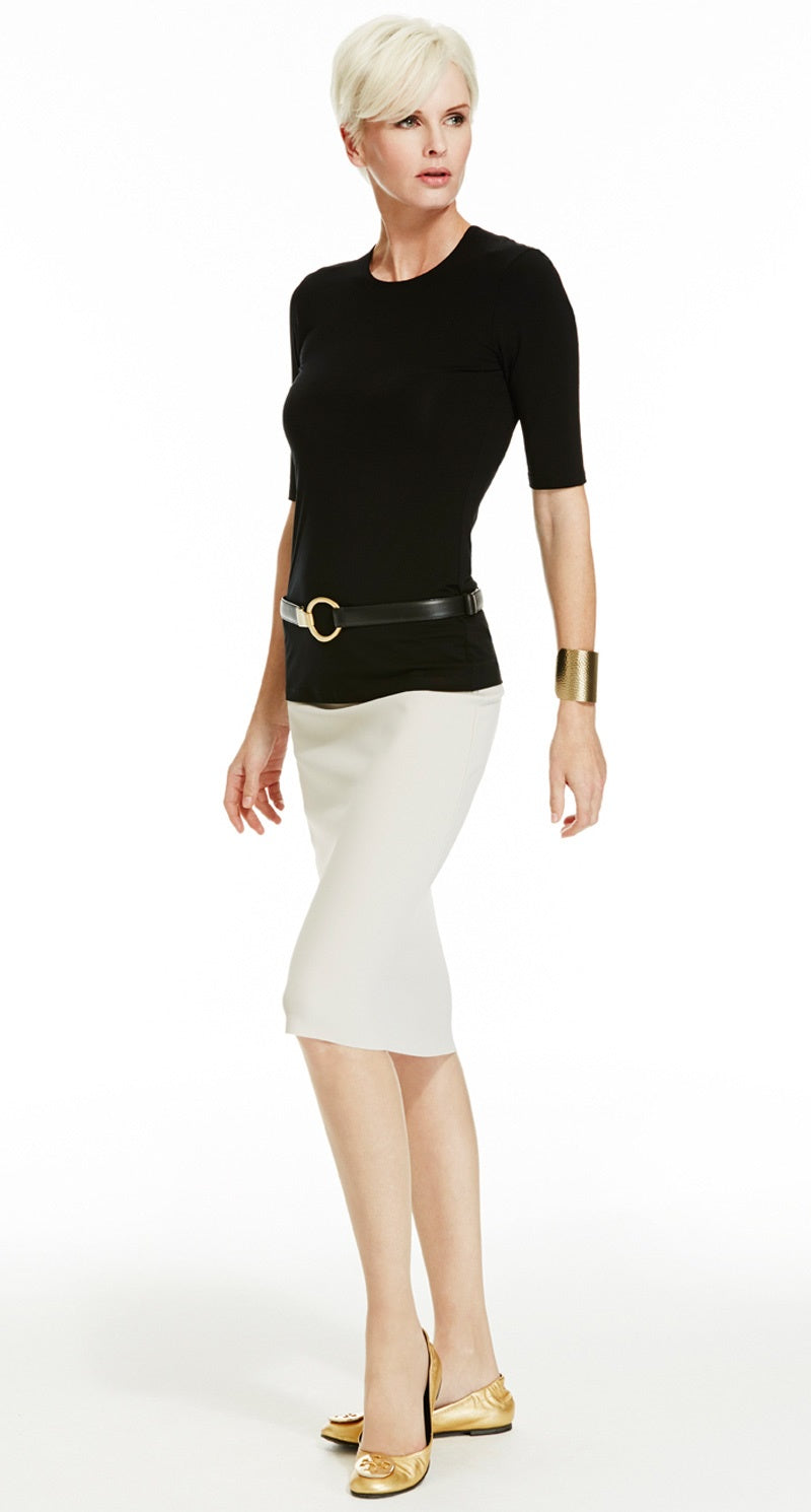 Slim Stretch Pencil Skirt - Long