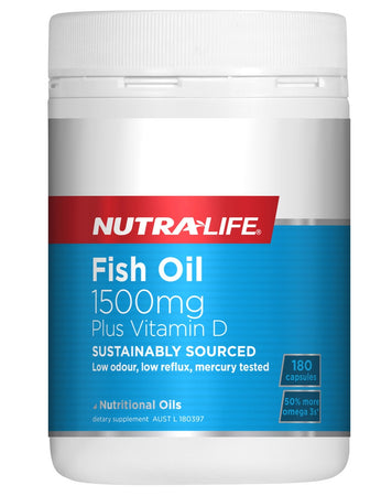 Fish Oil 1500mg Plus Vitamin D by NutraLife