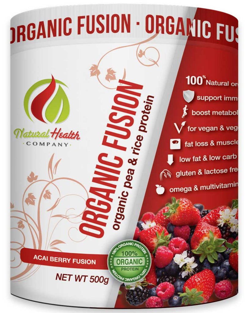 Organic Fusion Pea & Rice Protein by Natural Health Company
