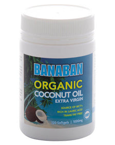 Organic Coconut Oil Extra Virgin Softgels By Banaban