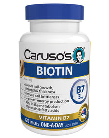 Biotin Vitamin B7 by Caruso's Natural Health