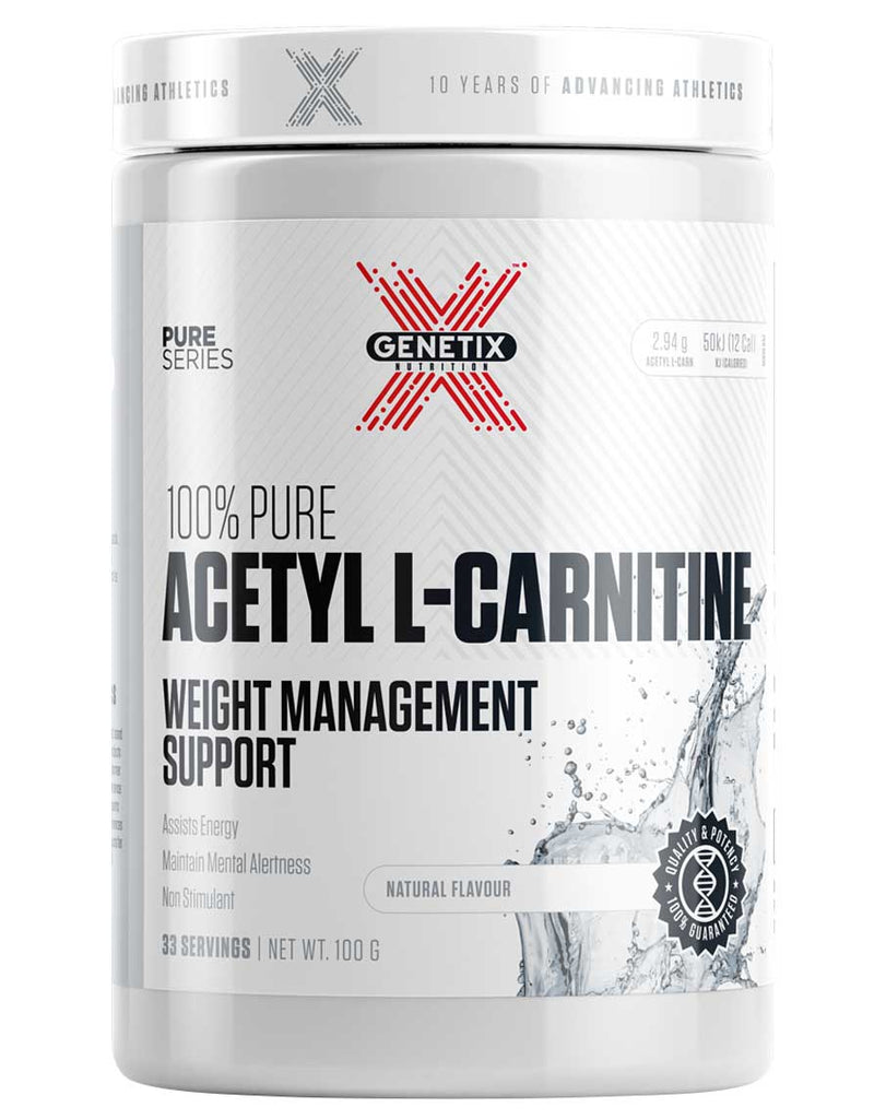 100% Pure Acetyl L-Carnitine by Genetix Nutrition Essentials