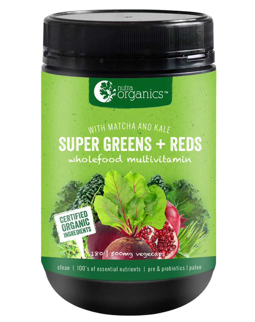 Super Greens & Red (Capsules) by Nutra Organics