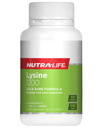 Lysine 1200mg Tablets by NutraLife