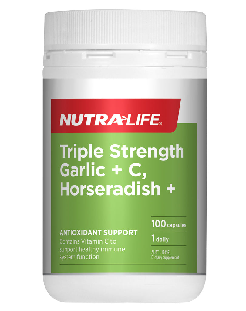 Triple Strength Garlic + C Horseradish by NutraLife