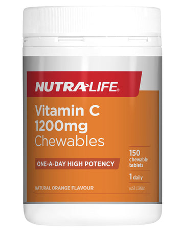 Vitamin C 1200mg Chewables by Nutralife