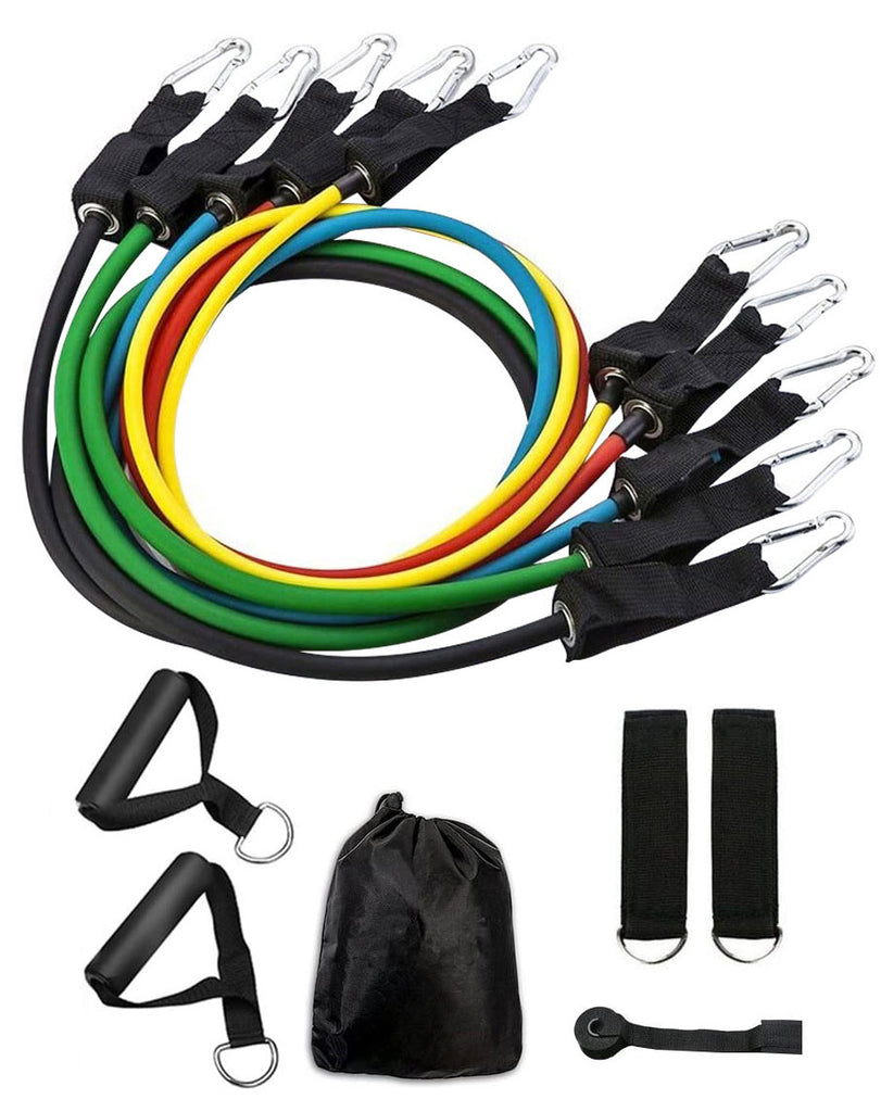 Resistance Band Set (11 Piece) by Vantage Strength