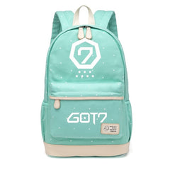 Backpacks Wishot Seventeen 17 Backpack Canvas Bag Schoolbag Travel Shoulder Bag Rucksacks For Women Girls