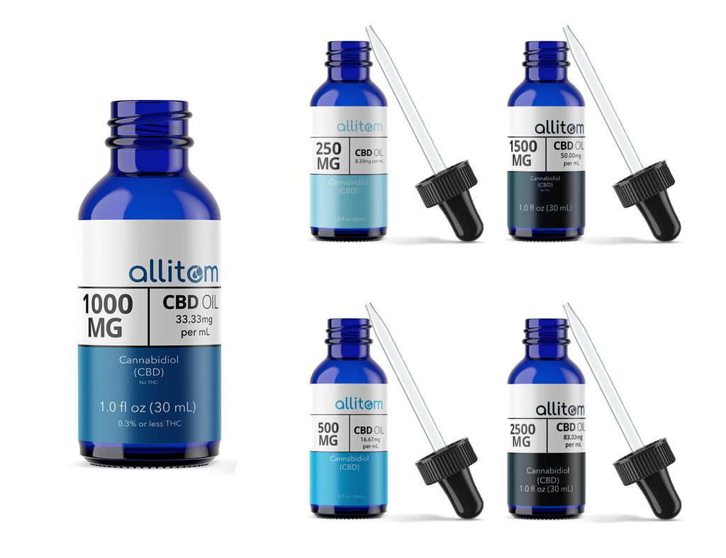 allitom Pure CBD Oil (THC-Free) - 30mL