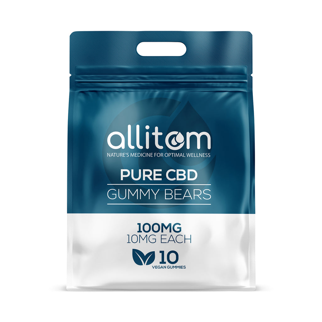 allitom PURE CBD Vegan Gummy Bears | 100mg |