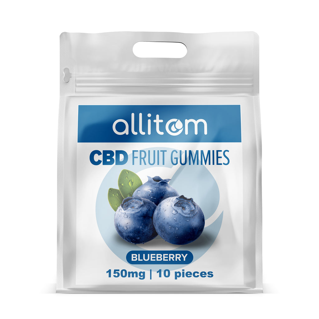 allitom Premium Broad Spectrum (THC Free) Infused Blueberry Gummies | 150mg