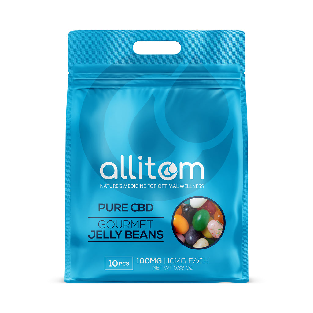 allitom PURE CBD Jelly Beans Assorted Flavors | 10mg Each