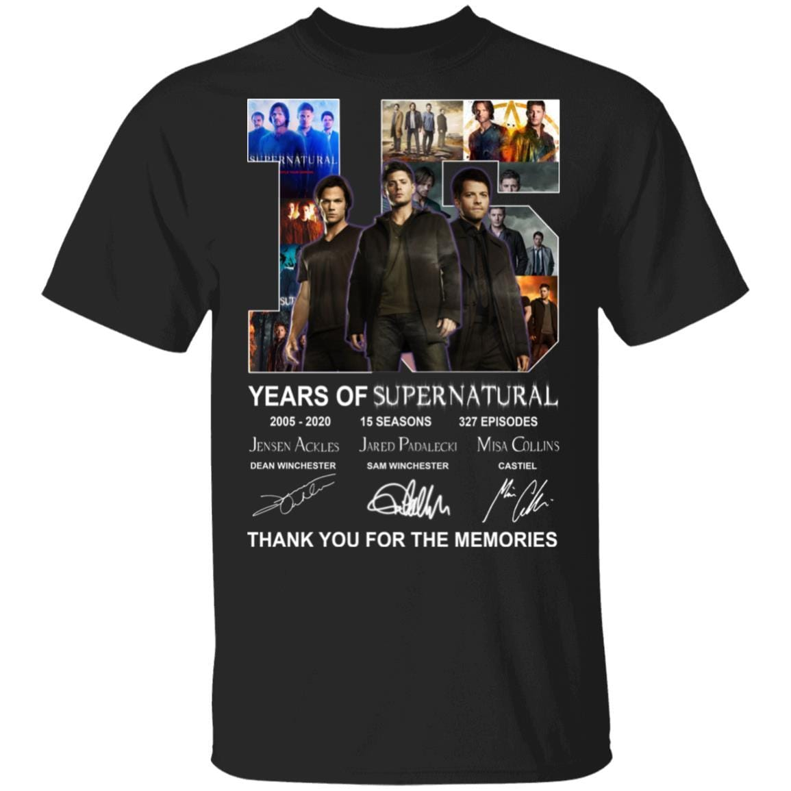 15 Years Of Supernatural Thank You For My Memories T-Shirts, Hoodies 1049-9953-86894548-48144 - Tee Ript