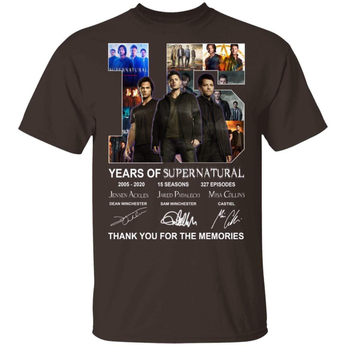 15 Years Of Supernatural Thank You For My Memories T-Shirts, Hoodies 1049-9956-86894548-48152 - Tee Ript