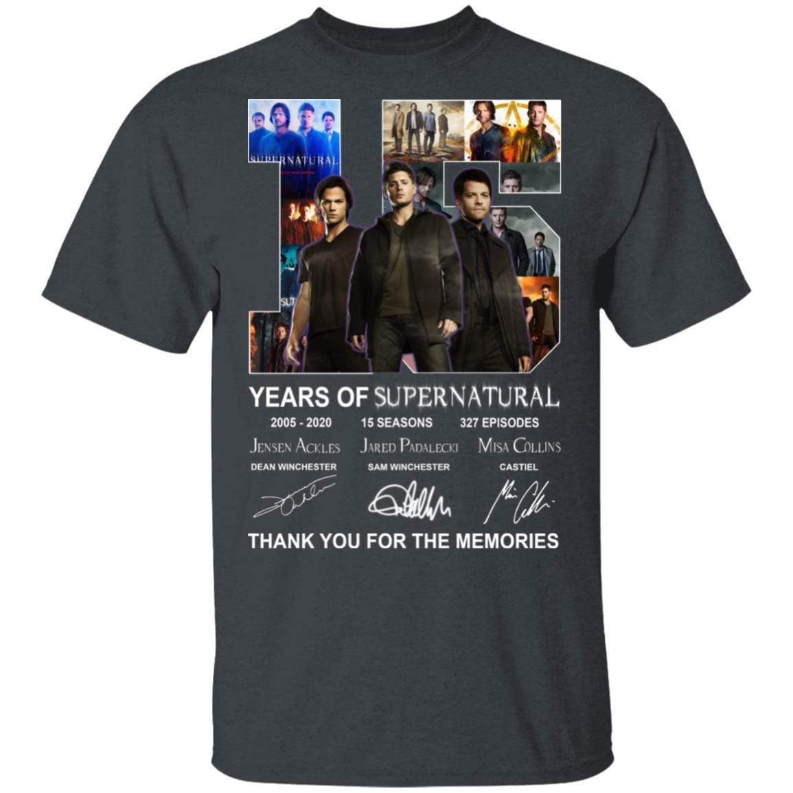 15 Years Of Supernatural Thank You For My Memories T-Shirts, Hoodies 1049-9957-86894548-48192 - Tee Ript