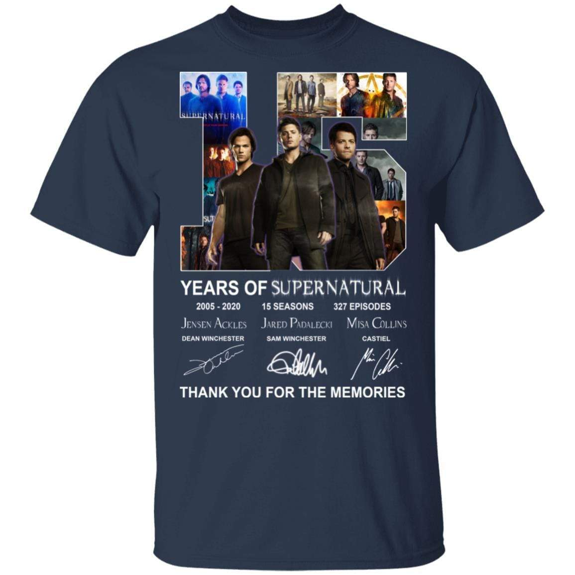15 Years Of Supernatural Thank You For My Memories T-Shirts, Hoodies 1049-9966-86894548-48248 - Tee Ript