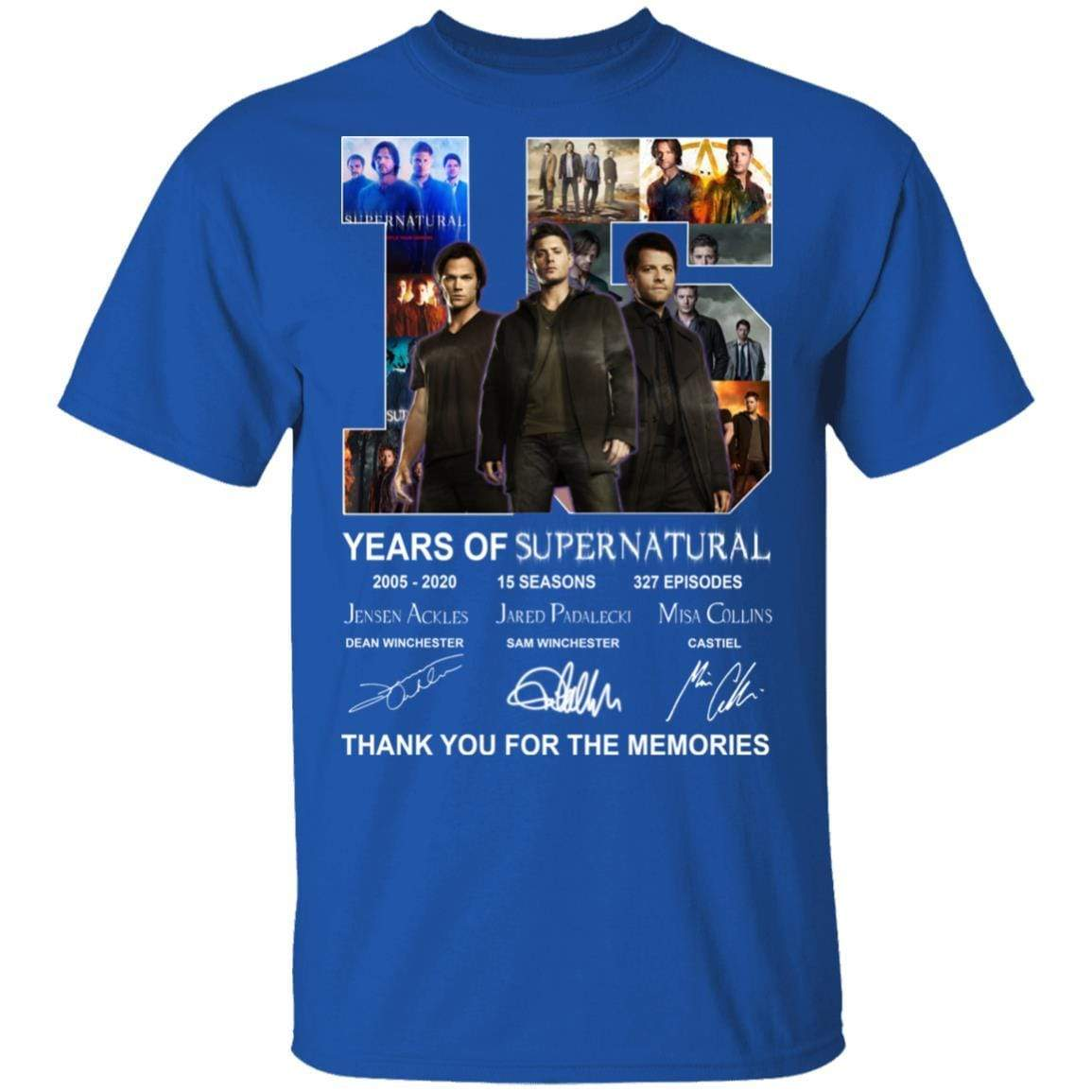 15 Years Of Supernatural Thank You For My Memories T-Shirts, Hoodies 1049-9971-86894548-48286 - Tee Ript
