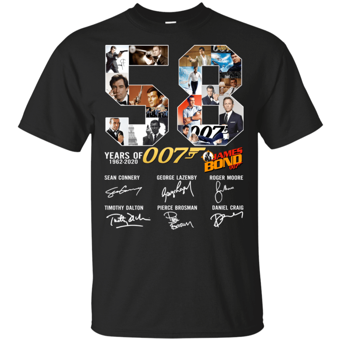 58 Years Of James Bond Anniversary T-Shirts, Hoodie, Tank 22-113-78230018-252 - Tee Ript