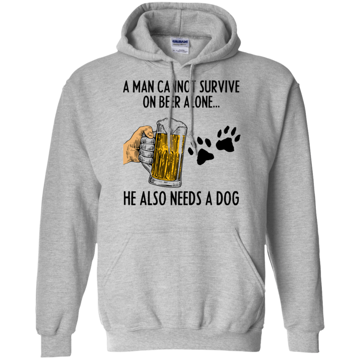 A Man Cannot Survive On Beer Alone He Also Needs A Dog T-Shirts, Hoodie, Tank 541-4741-78468480-23111 - Tee Ript