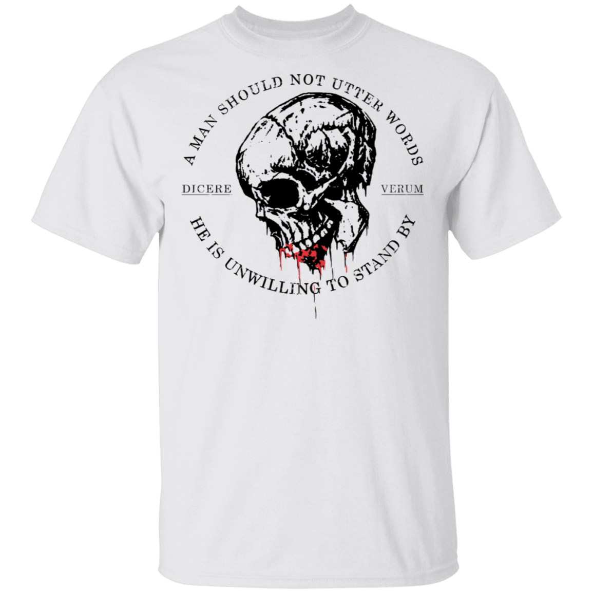 A Man Should Not Utter Words He Is Unwilling To Stand By Dicere Verum T-Shirts, Hoodies 1049-9974-86055408-48300 - Tee Ript