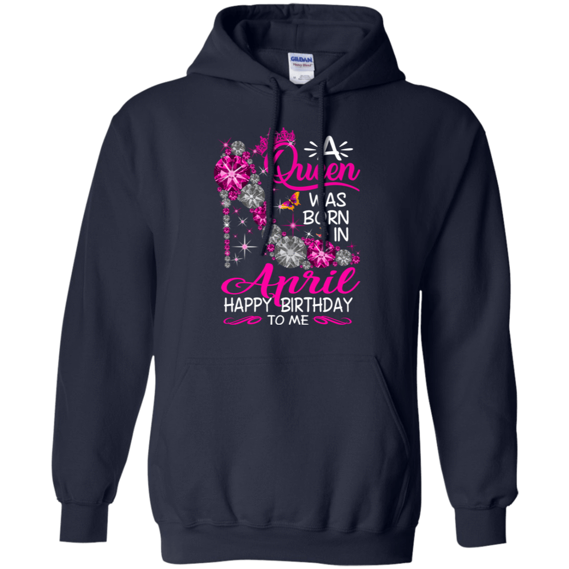 A Queen Was Born In April Happy Birthday To Me T-Shirts & Hoodies 541-4742-76451796-23135 - Tee Ript