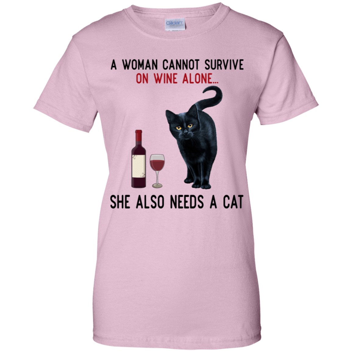 A Woman Cannot Survive On Wine Alone She Also Need A Cat T-Shirts, Hoodies 939-9258-77528899-44786 - Tee Ript