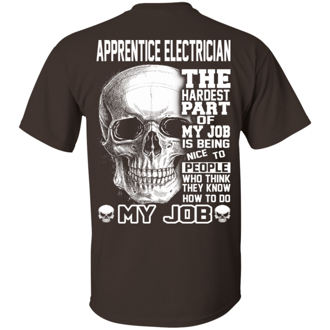 Apprentice Electrician The Hardest Part Of My Job 22-2283-72369949-12087 - Tee Ript