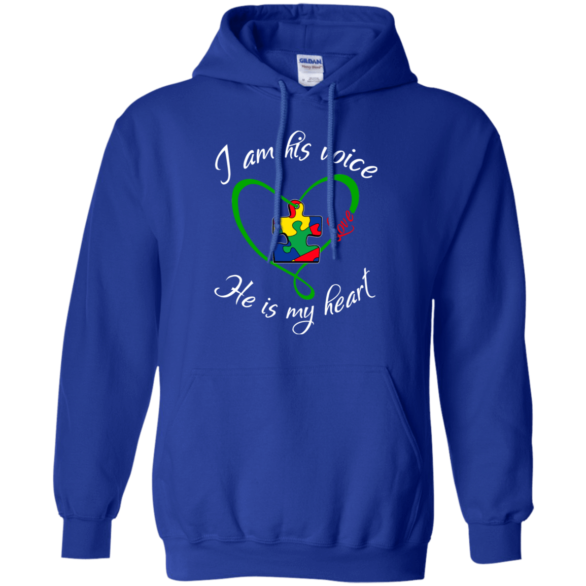 Autism: I Am His Voice He Is My Heart 541-4765-73425687-23175 - Tee Ript