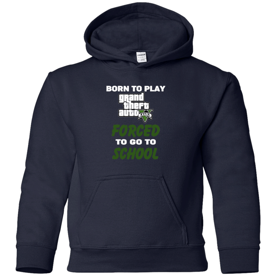 Born To Play Grand Theft Auto Forced To Go To School 59-334-74209588-1275 - Tee Ript